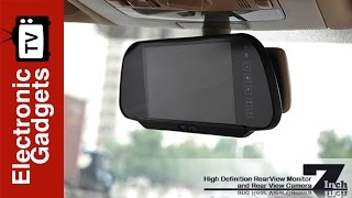 7 Inch High Definition Rear View Monitor + Rear View Camera