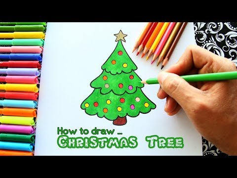 How to draw the Christmas Tree easy!