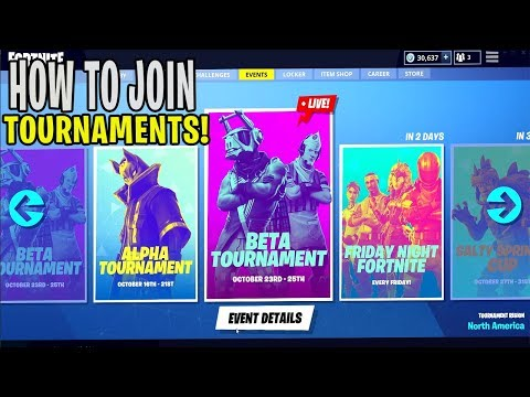 HOW To Join TOURNAMENTS! - Fortnite: Battle Royale Events