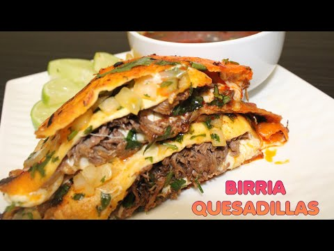 BIRRIA QUESADILLAS 🌮 w/ CONSOME' | HOW TO MAKE THE VIRAL TACO RECIPE