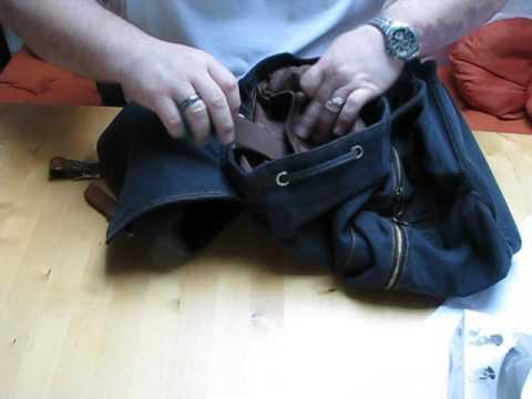 Let´s Test Canvas und Leder Rucksack#034