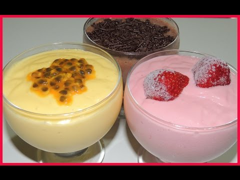 Receita de Mousse de 3 Ingredientes