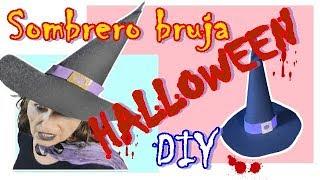 Sombrero de bruja con goma eva. DIYTubers Halloween Challenge