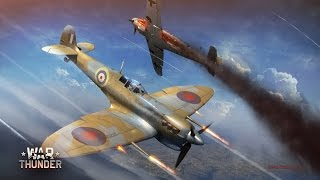 """Spitfire MK Vb in realistic battle (music from Interstellar """"No Time for Caution"""" from Hans Zimmer)"""