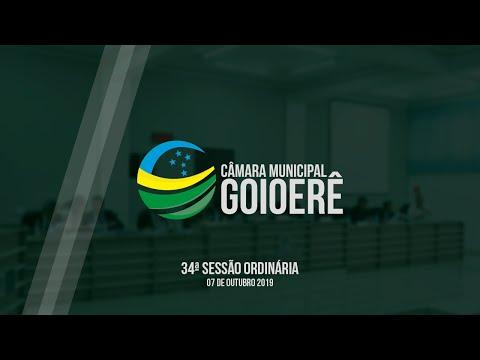 34ª Sessão Ordinária - 2019