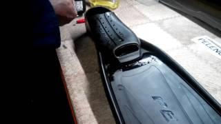 Ласты Pelengas  с пластиковыми лопастями для подводной охоты от компании МагазинCalipso dive shop - видео