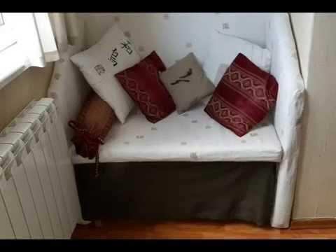 Как сделать диван на балконе