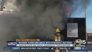 Modern furniture made with synthetic material can be dangerous