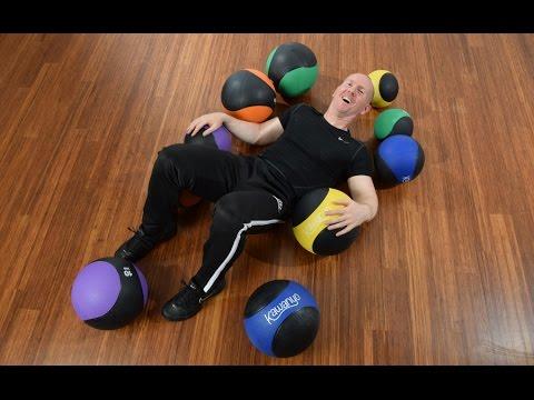 Übungen mit dem Medizinball Kraft und Stabilisation