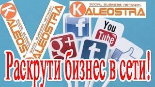 KALEOSTRA- социальная сеть для раскрутки бизнеса