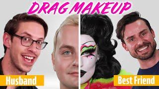 Husband Vs. Best Friend Recreate Iconic Drag Makeup