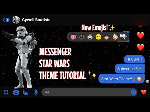 HOW TO ENABLE STAR WARS THEME ON MESSENGER!! (easy!) ANDROID/IOS || Cywell Bautista