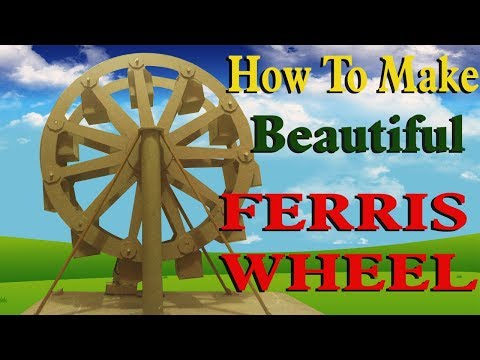 how to make a ferris wheel at home || electric || Craft Ideas || home made