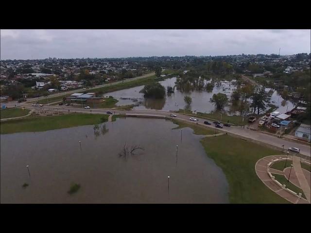 VIDEO: El río Uruguay ya supera ampliamente los 11 metros de altura en el puerto