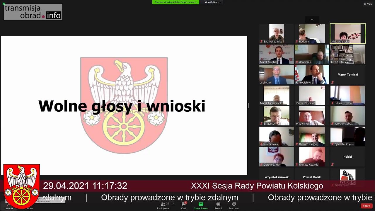 Zdjęcie do XXXIX sesja Rady Powiatu Kolskiego