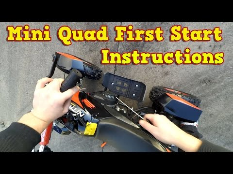 Quad 50cc First Start Instructions - Pocket Quad 50cc ATV - Video