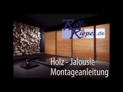 Anleitung zur Montage und Aufmaß einer Holz Jalousie von Rollo Rieper