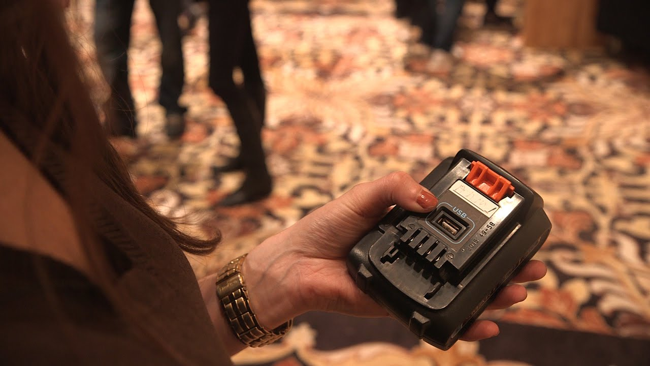 A smart power tool battery that charges your phone too — CES 2016 thumbnail