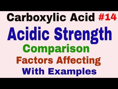 Carboxylic Acid #14| Acidity of Carboxylic Acid | Comparison of acidity of Carboxylic Acid