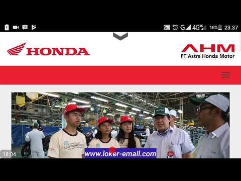 Cara melamar PT ASTRA HONDA MOTOR lewat Website Dari SMA Sampai Sarjana