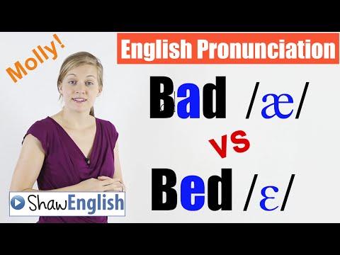 English Pronunciation: Bad /æ/ vs Bed /ɛ/