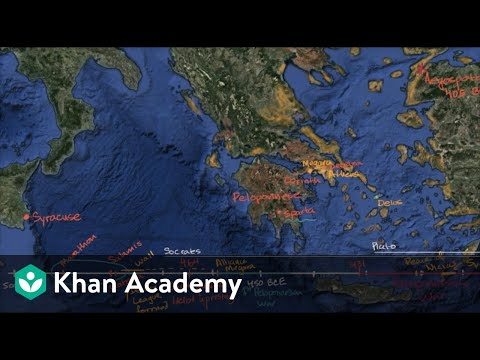 The Peloponnesian War Video Khan Academy - Map of the distance between athens sparta and the us