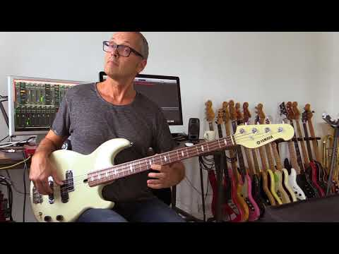 Fast legato melodic bass fills and harmonics , how to play