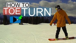 #35 Snowboard begginer – How to toe turn on snowboard
