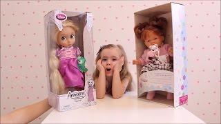 Рапунцель Disney  Паула (Paola Reina) Unpacking gifts Disney Princess видео куклы