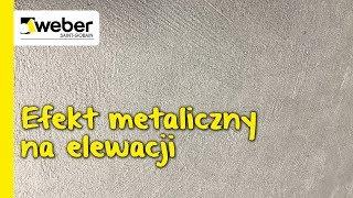 Efekt metaliczny na elewacji - farba fasadowa weber.ton metalic