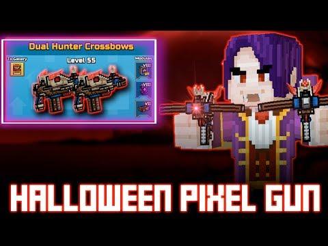 Halloween In Pixel Gun 3D! - Gameplay : Dual Hunter Crossbows