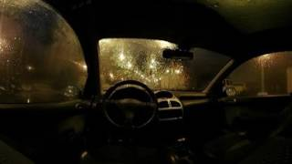 Rain on a Car at Night with Wind and Soothing Sounds for Relaxation and Sleep - 10 Hrs VR 360 Video