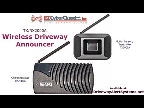 TX/RX2000A Wireless Driveway Announcer | Rodann Electronics Wireless Driveway Alarm Review (demo)