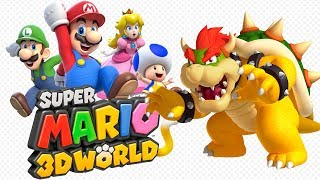 Super Mario 3D World - All Boss Fights! 100%!