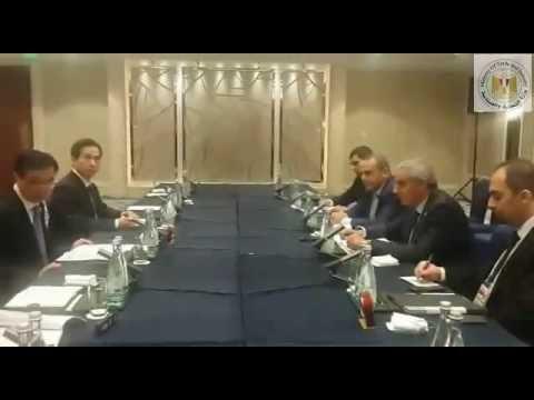 لقاء الوزير/طارق قابيل مع وزير التجارة الصينى على هامش اجتماعات مجموعة العشرين بشنغهاى