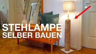 Treibholz Lampe selber bauen. Upcycling Projekt aus alten Treibholz.