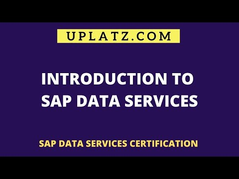 Introduction to SAP Data Services | SAP Data Services Certification