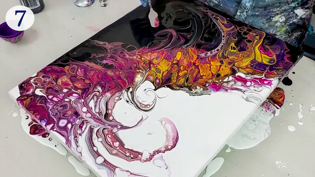 acrylic fluid art differsnt ways for pouring by olga soby