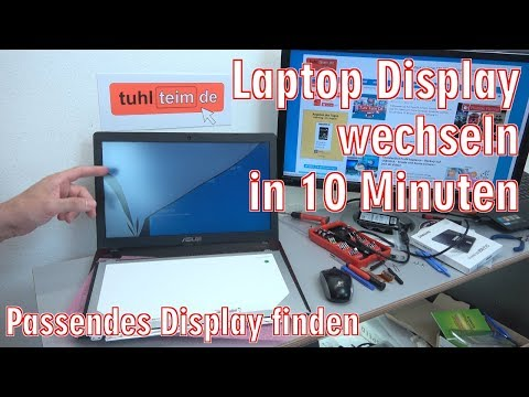 Laptop Display wechseln in 10 Minuten - Notebook reparieren - Passendes Display kaufen - [4K]