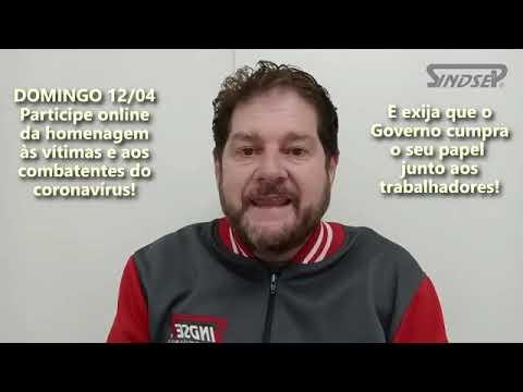 Sergio convida para que todos participem online no domingo (12/04) homenagem as vítimas e aos combatentes do Coronavírus