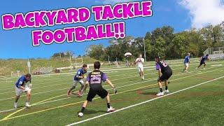 DOWN TO THE FINAL PLAY!!! BACKYARD TACKLE FOOTBALL!!