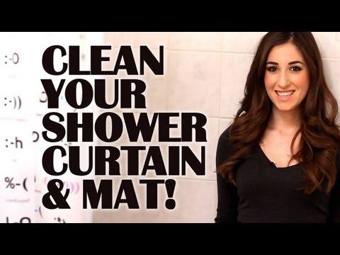Καθαρίστε εύκολα την κουρτίνα και το πατάκι του μπάνιου