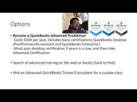 Advanced QuickBooks Training Courses - YouTube