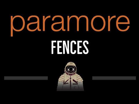 Paramore • Fences (CC) 🎤 [Karaoke] [Instrumental Lyrics]