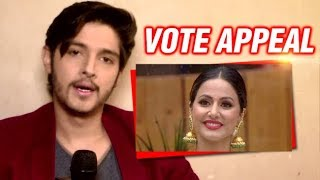 Rohan Mehra's VOTE Appeal For Hina Khan