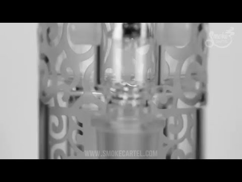 Nexus Glass Sandblasted Juggernaut with Double Inverted Showerhead Percs and Splash Guard on Youtube
