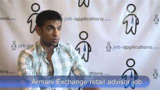 Armani Exchange Interview - Retail Adviser