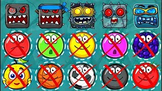 ИГРАЕМ ЗА БОССА - КРАСНЫЙ ШАРИК 4 - НОВЫЙ ПЕРСОНАЖ ! ПОДЗЕМНЫЕ ХОДЫ мультик для детей шар RED BALL 4