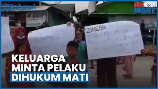 Keluarga Rizka dan Aprilia Cinta Gelar Demo ke Polres Belawan, Minta Aipda RS Dihukum Mati