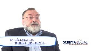 La déclaration d'héritiers légaux